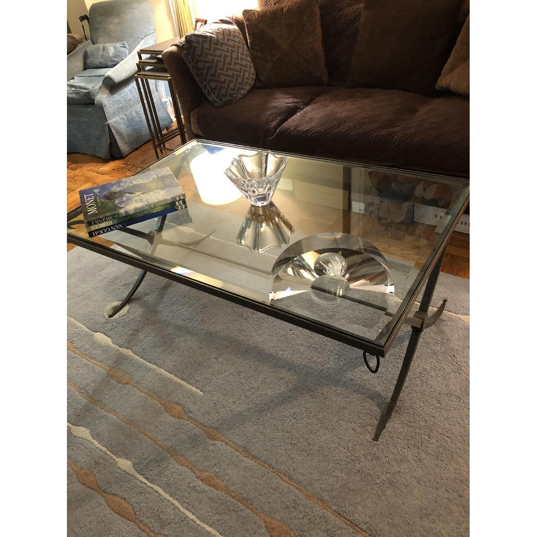Baker Furniture Glass & Metal Coffee Table-2