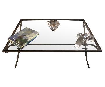 Baker Furniture Glass & Metal Coffee Table