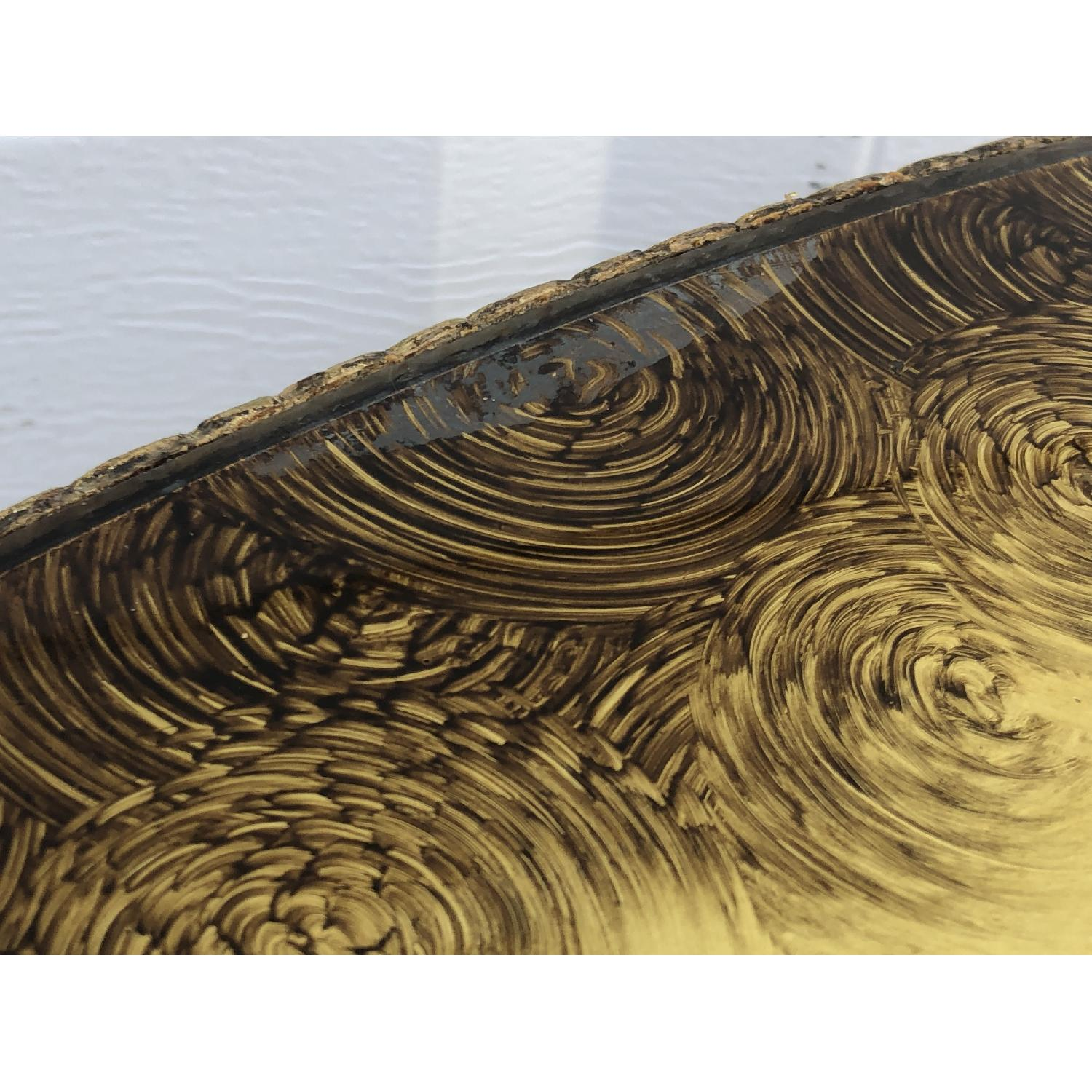 Vintage Gold & Glass Coffee Table-1