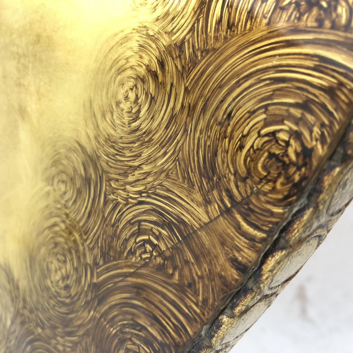 Vintage Gold & Glass Coffee Table-9