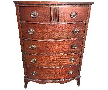 Hickory Antique 1940s Mahogany Dresser w/ Original Handles