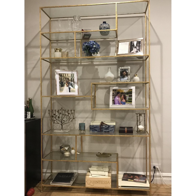 Wisteria Gold Leaf Open Shelf/Etagere-0