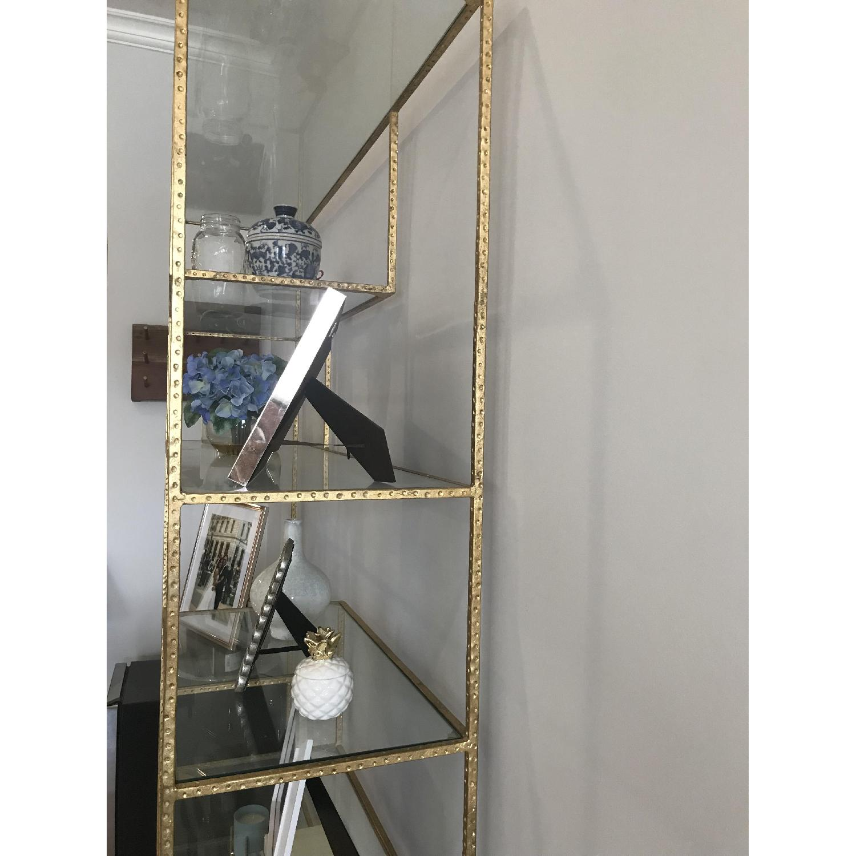 Wisteria Gold Leaf Open Shelf/Etagere-1