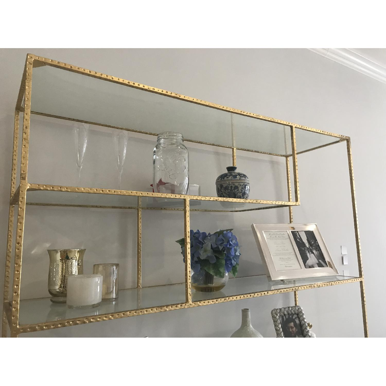 Wisteria Gold Leaf Open Shelf/Etagere-2