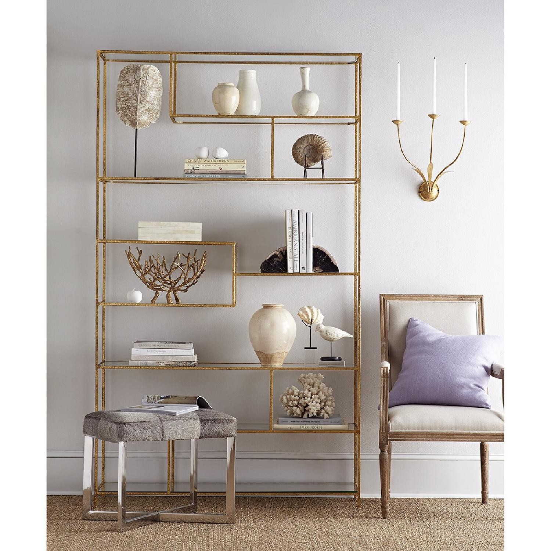 Wisteria Gold Leaf Open Shelf/Etagere-3