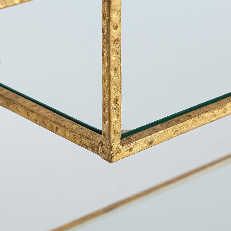 Wisteria Gold Leaf Open Shelf/Etagere-4