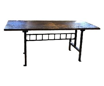 Vintage Reclaimed Wood Dining Table