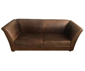 Montauk Brown Leather Sofa