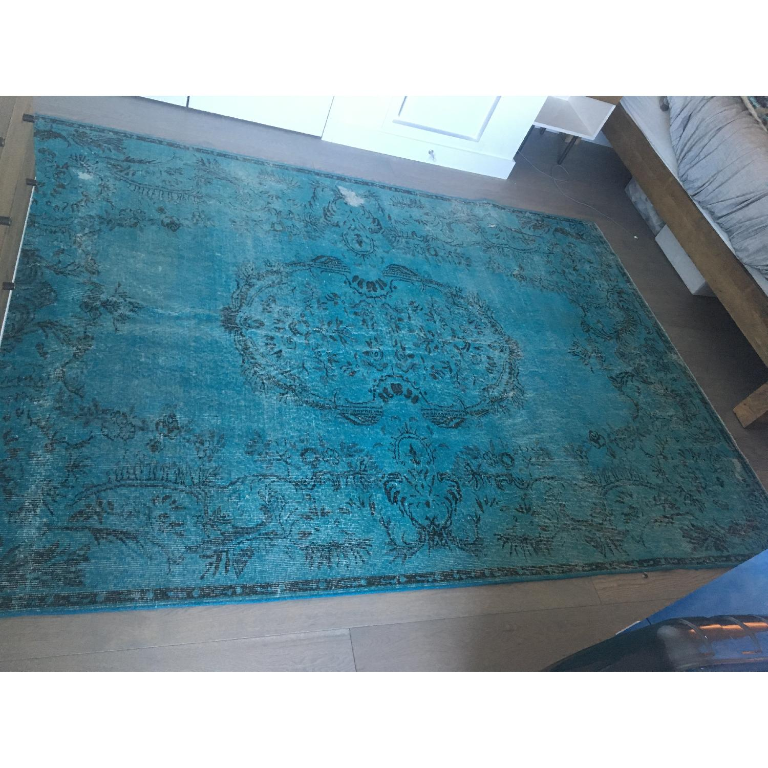 ABC Carpet and Home Teal Blue Persian Area Rug-0