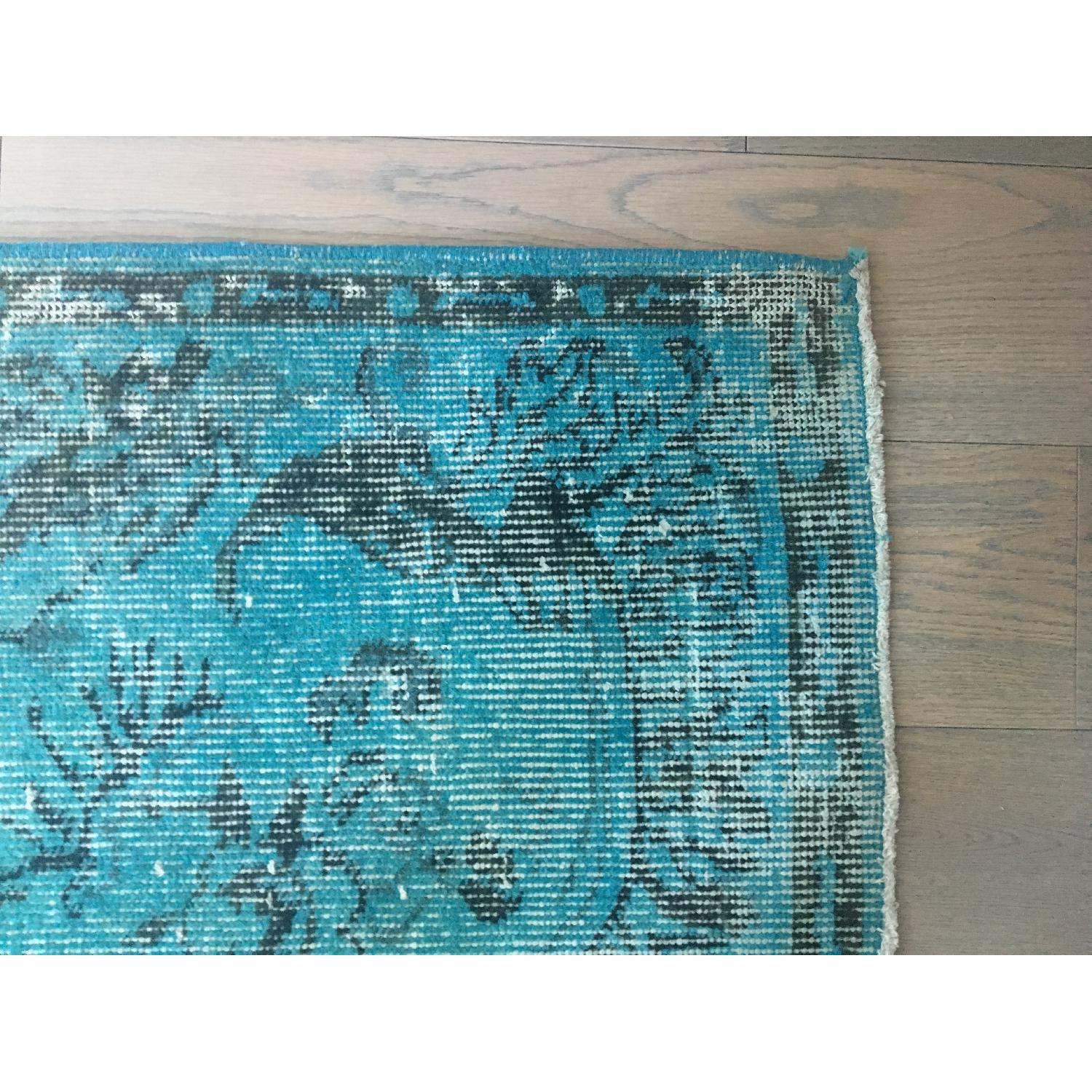 ABC Carpet and Home Teal Blue Persian Area Rug-2