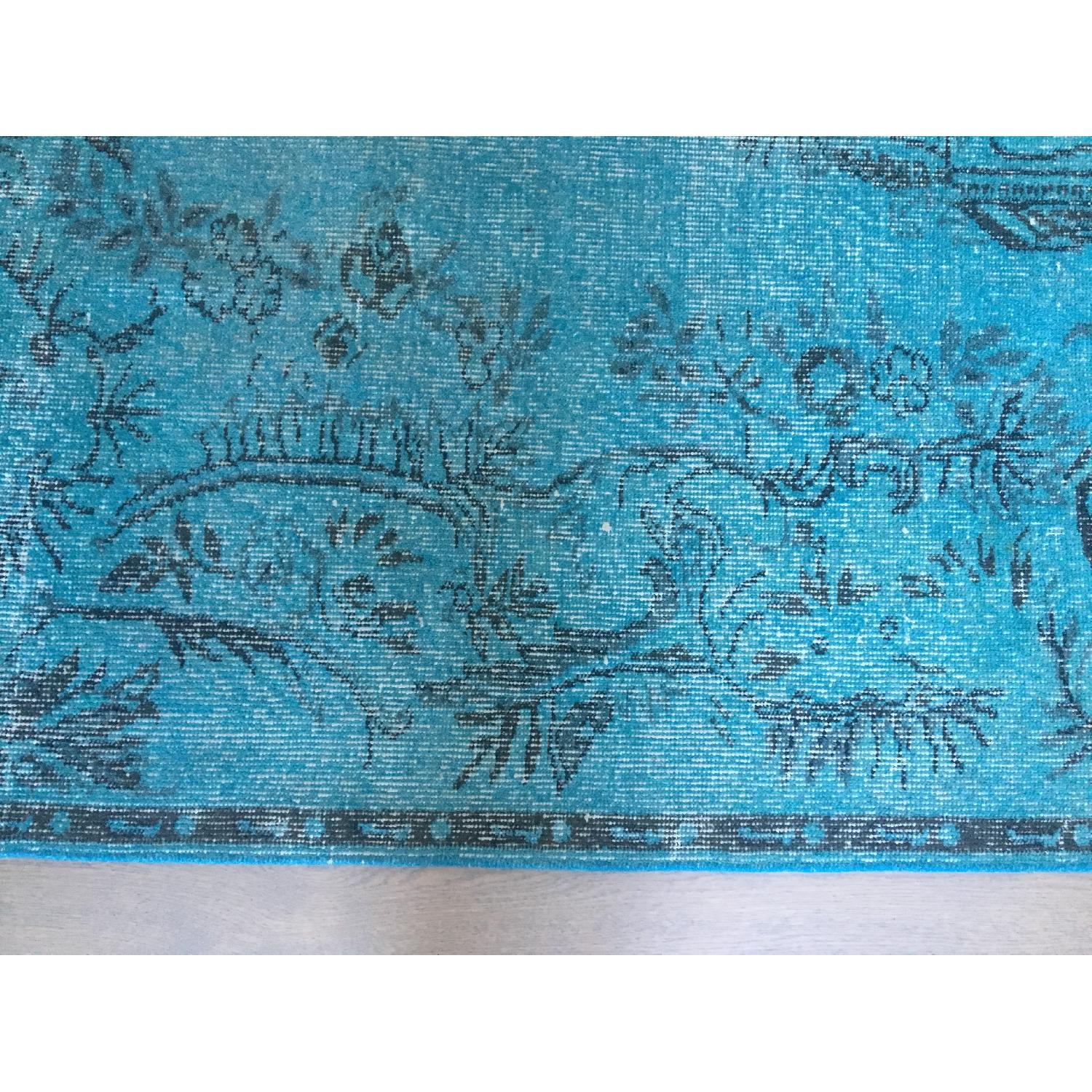 ABC Carpet and Home Teal Blue Persian Area Rug-3