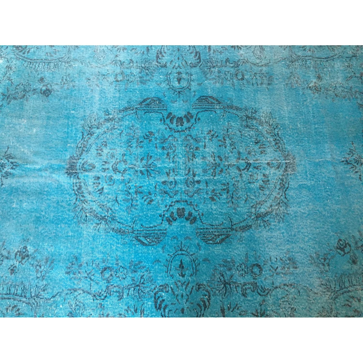 ABC Carpet and Home Teal Blue Persian Area Rug-4