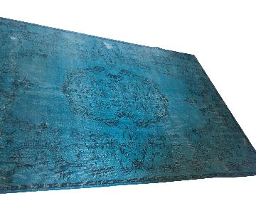 ABC Carpet and Home Teal Blue Persian Area Rug