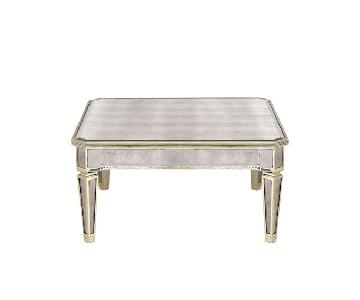 Horchow Mirrored Glass Coffee Table