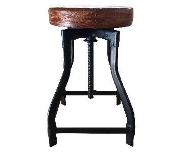 Olde Good Things Vintage Leather Stools