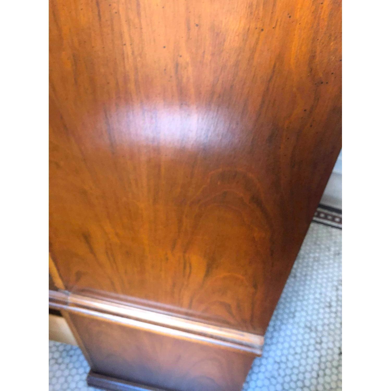 Vintage 1970s Solid Wood Armoire w/ Original Brass Handles-9