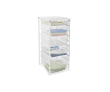 Container Store White Elfa Mesh Dresser