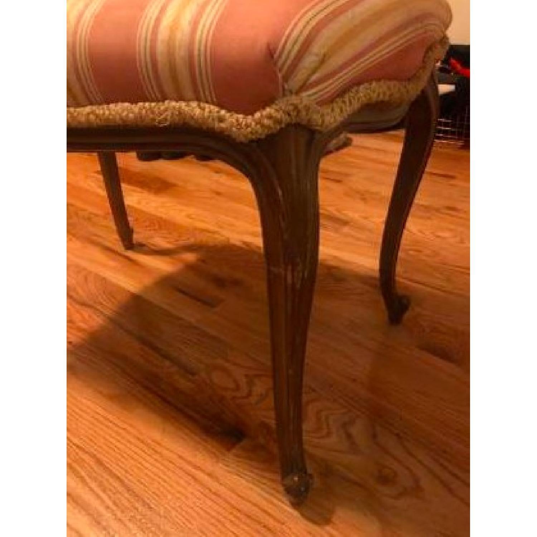 Antique Upholstered Wooden Bench-1