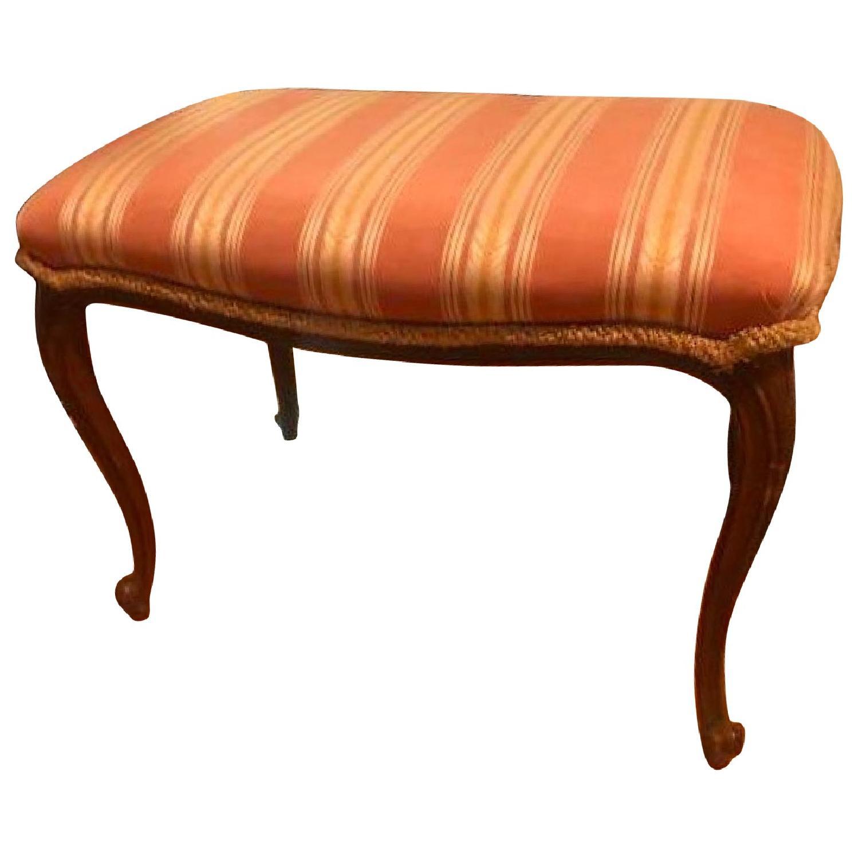 Antique Upholstered Wooden Bench