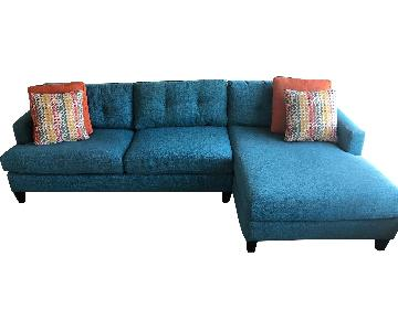Jennifer Convertibles Sectional Sofa w/ Left Facing Chaise