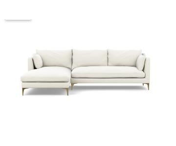 Interior Define Caitlin Sectional Sofa w/ Left Chaise