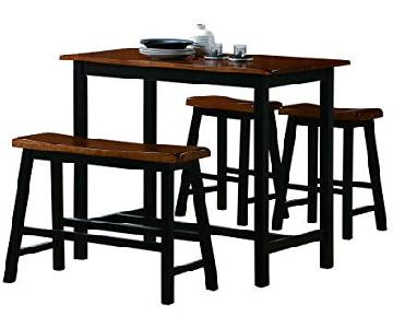 Crown Mark Tyler 4-Piece Counter Height Dining Set