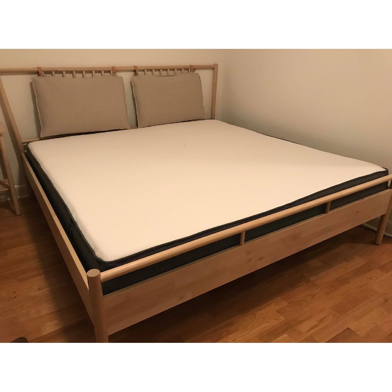 Ikea Bjorksnas Bed Frame in Birch w/ Lonset-2