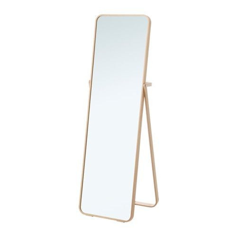Ikea Ikornnes Floor Mirror in Ash