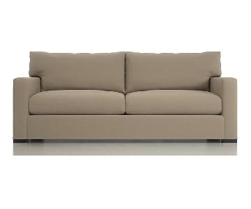 Crate & Barrel Axis 2-Seat Queen Sleeper Sofa in Deluca Iron