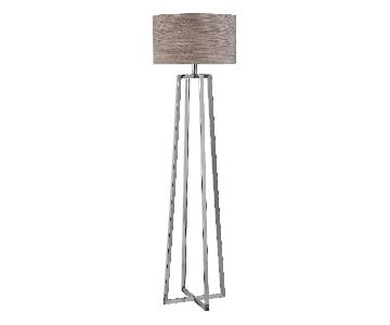Uttermost Keokee Polished Nickel Floor Lamp