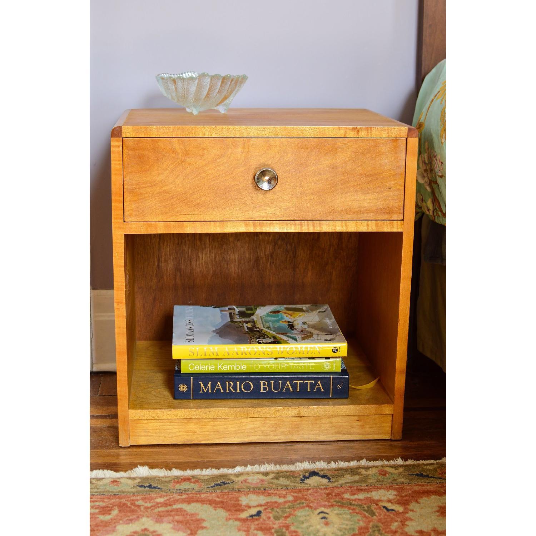 Blonde Wood Bedside Table w/ Drawer