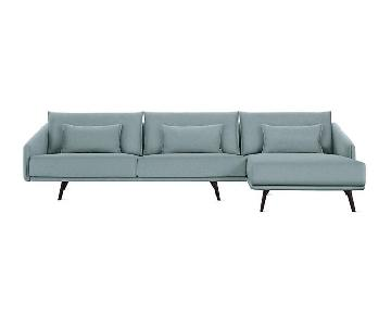 Design Within Reach Costura 2-Piece Sectional Sofa w/ Chaise