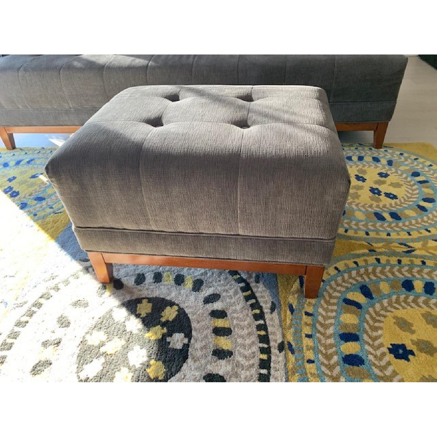 Living Spaces Mid Century Modern Sofa & Ottoman-2