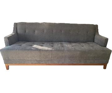 Living Spaces Mid Century Modern Sofa & Ottoman