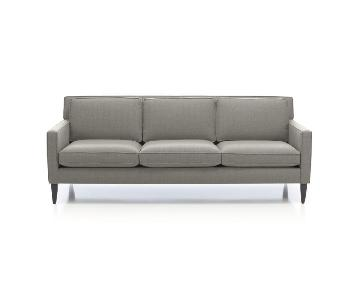 Crate & Barrel Rochelle 3 Seater Loose Cushion Sofa