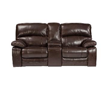 Ashley Dunwell Power Reclining Loveseat w/ Console