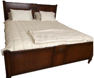 Italian Solid Wood King Bed