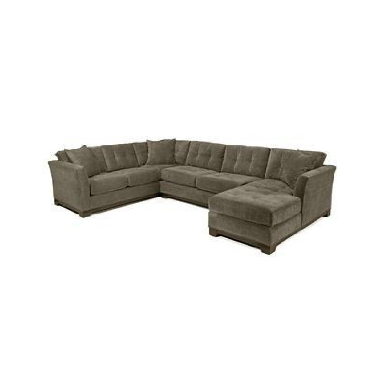 Macy\'s 3 Piece Gray Sectional Sofa - AptDeco