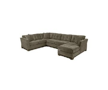 Macy's 3 Piece Gray Sectional Sofa