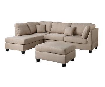 Andover Mills Hemphill Reversible Sectional Sofa & Ottoman