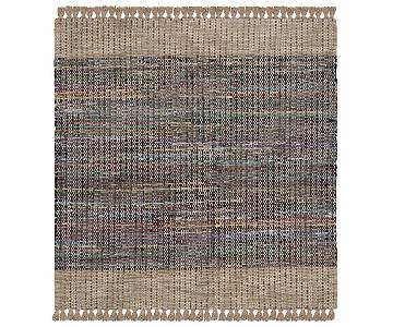 Safavieh Beige Multi Square Cotton Area Rug