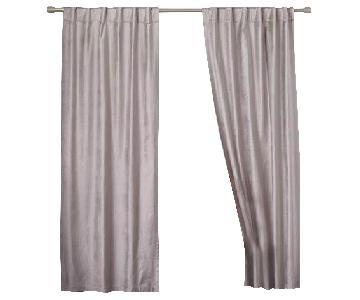 West Elm Cotton Luster Velvet Curtains in Platinum