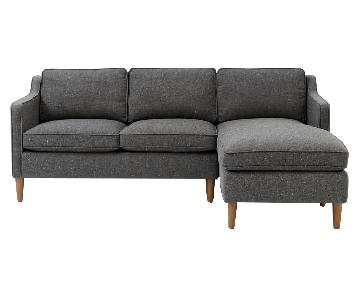 West Elm Hamilton 2-Piece Chaise Sectional Sofa
