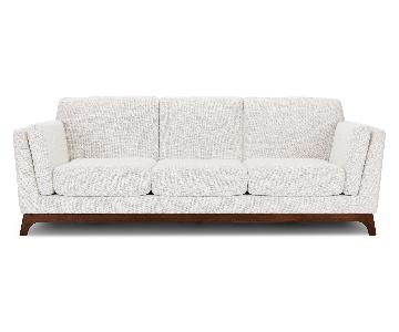 Article Ceni 3 Seater Sofa in Fresh White & Walnut