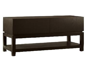 West Elm Parsons Media Console in Chocolate