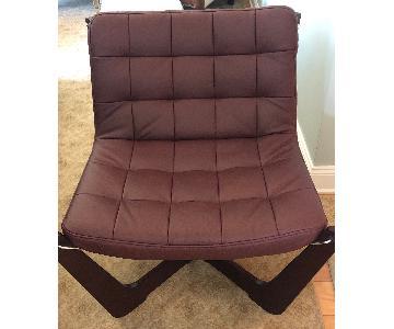 Hjellegjerde Alfa Burgundy Chair