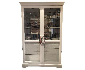 White Farmhouse China Cabinet