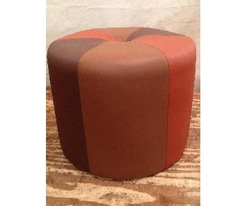 Custom Made Round Ottoman