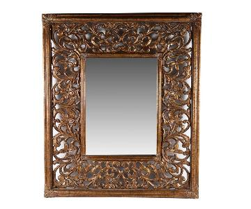 Filigree Wood Frame Wall Mirror