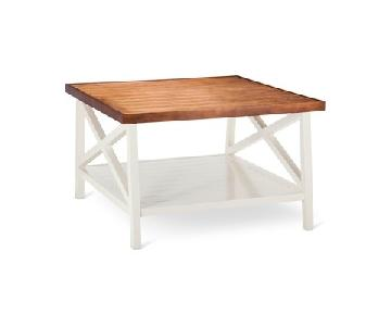 Target White & Chestnut Square Coffee Table